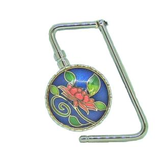 purse hook | purse hanger | Cloisonne foldable bag hanger