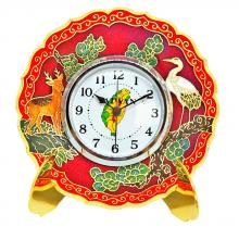 table clock | alarm clock | cloisonne plate shaped table clock
