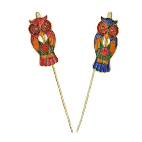 Owl bookmark | metal bookmark | Cloisonne hook style bookmarks