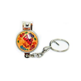 Nail Clipper Key Chain | Cloisonne Round Shaped Nail Clipper Key Chain