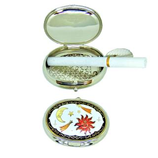 custom ashtray | pocket ashtray | cloisonne oval shaped portable ashtray