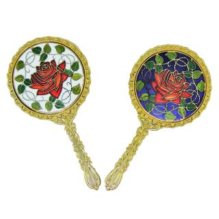 pocket mirror | cloisonne hand held mirror